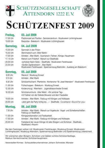 Schützenfest in Attendorn 2009