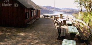 SGV Hütte der Abtl. Attendorn 1890 e.V. mit Blick auf den Biggesee