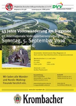 Volkswanderung - Biggesee 2010