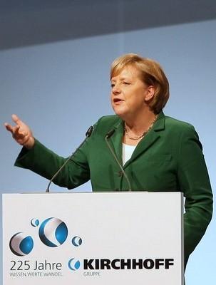 Bundeskanzlerin Dr. Angela Merkel bei der 225 Jahr Feier der Kirchhoff Gruppe