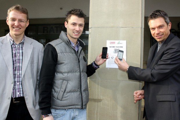 mobile tagging qrcode in attendorn