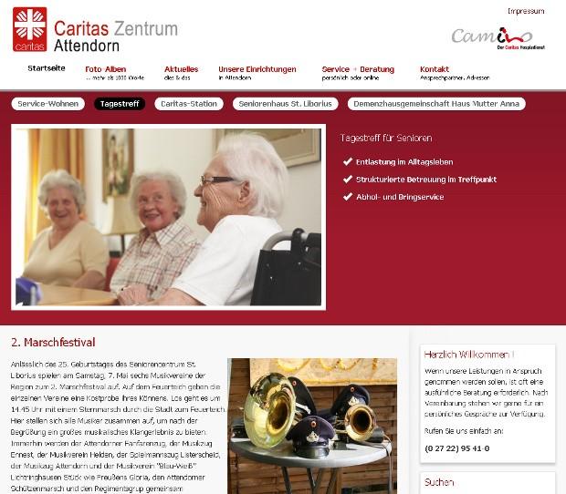 Caritas-Zentrum-Attendorn Webseite