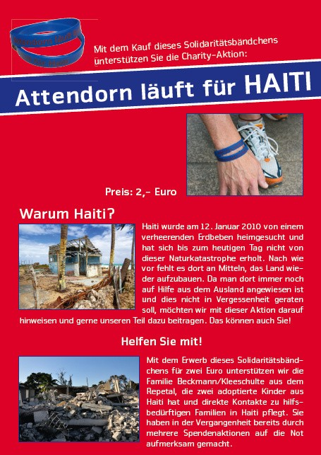 Attendorn - Haiti - Spendenaktion