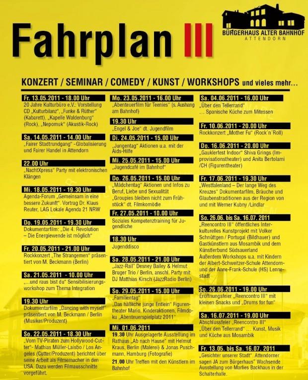 Fahrplan3 Kultuprogramm  Kulturbuero Attendorn