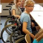 Rollstuhlprojekt St. Ursula Gymnasium: Im Klassenraum 1