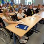 Rollstuhlprojekt St. Ursula Gymnasium: Im Klassenraum 2