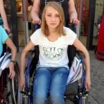 Rollstuhlprojekt St. Ursula Gymnasium: In der Stadt