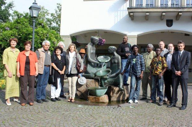 Künstler aus mosambik empfang rathaus Attendorn