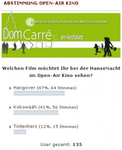 Open-Air Kino - HanseNacht 2011