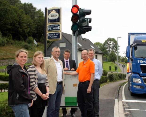 Neue Ampel in Neuenhof