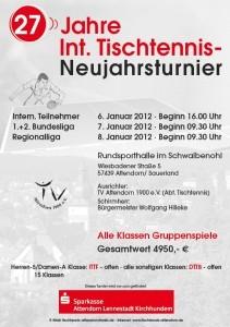 27. Tischtennisturnier - Attendorn 2012