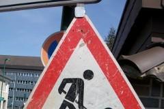Verkehrsschild Baustelle