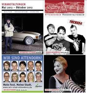 Attendorner Veranstaltungskalender Sommer 2012 - Titel