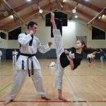Michaela Griva (re. KDK Attendorn) Landesmeisterin NRW 2014 (Nordrhein Westfälischen Taekwondo Union)