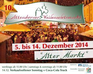 Werbetafel Weihnachtsmarkt Attendorn 2014