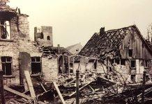 Zerstörtes Attendorn 1945