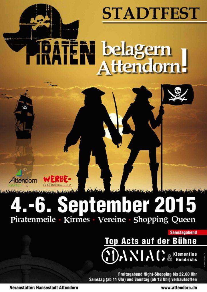 Plakat Stadtfest_Piraten belagern Attendorn 2015