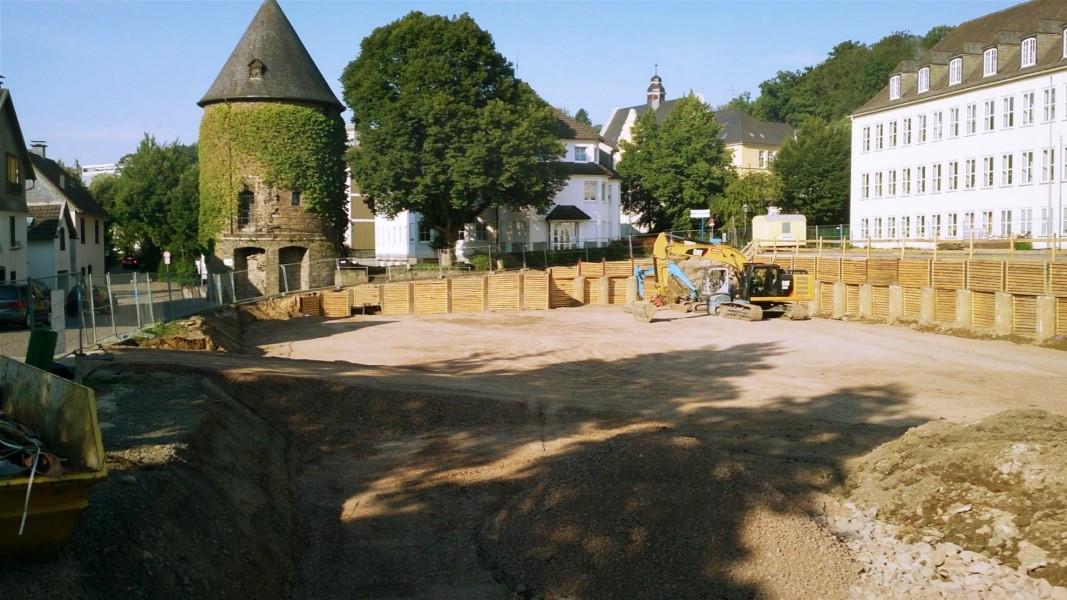 Baustelle Feuerteich Parkpalette 08.15