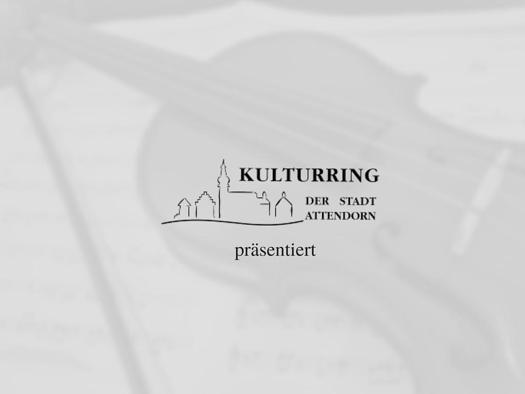 Kulturring Attendorn präsentiert