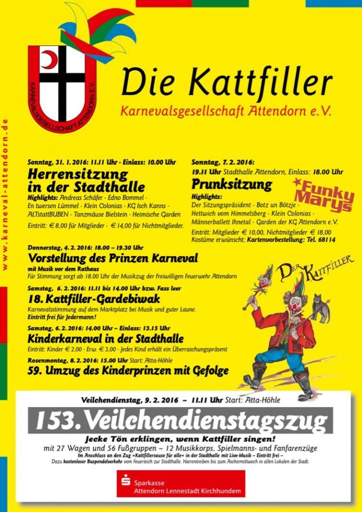 Karneval in Attendorn Plakat2016