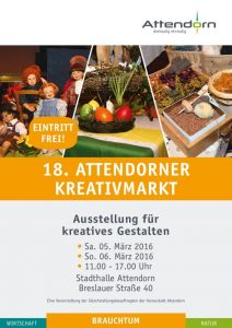 Plakat Kreativmarkt 2016 Attendorn