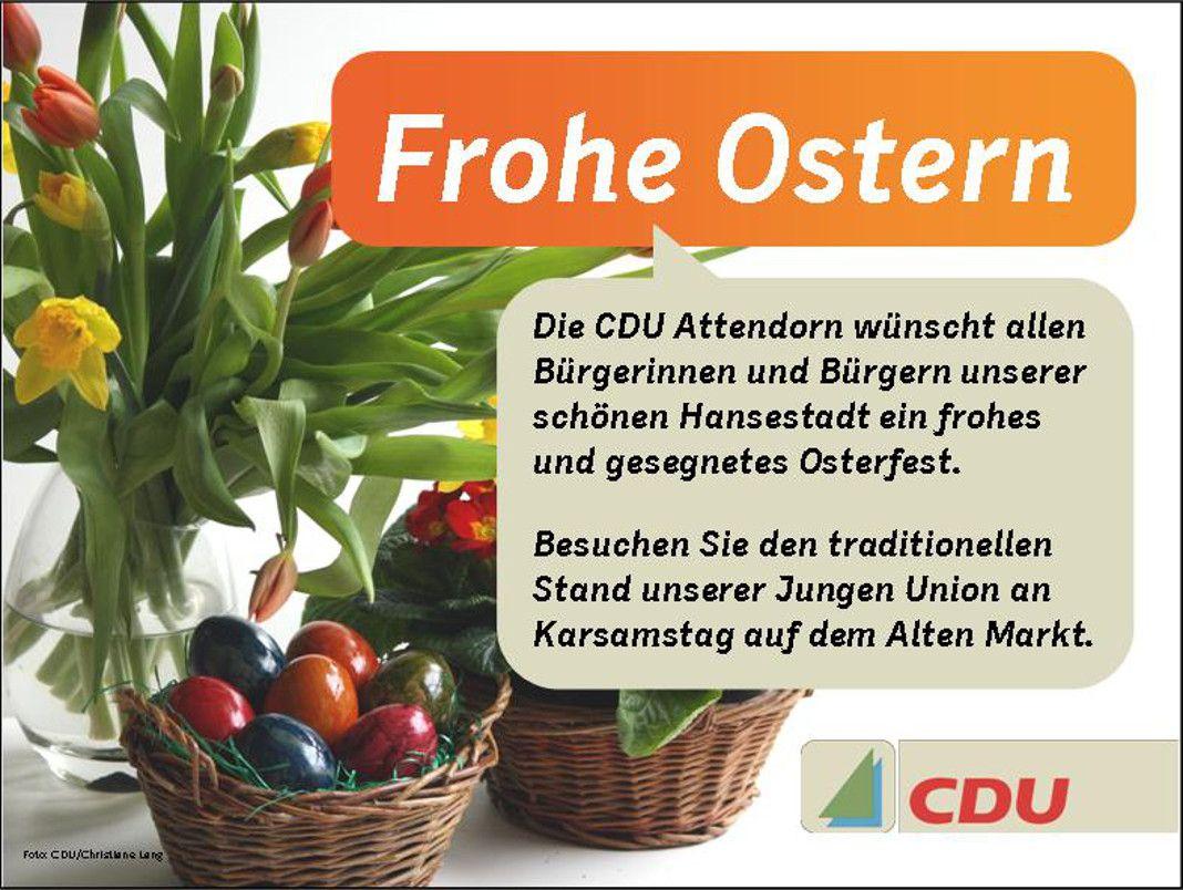 Cdu Attendorn Wünscht Frohe Ostern Attendorner Geschichten