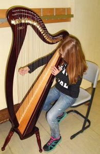 kind harfe