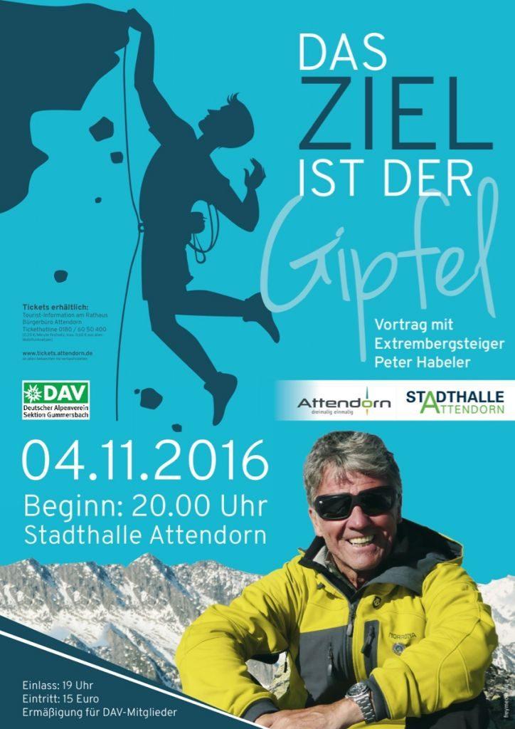 Stadt-Attendorn Plakat Peter Habeler