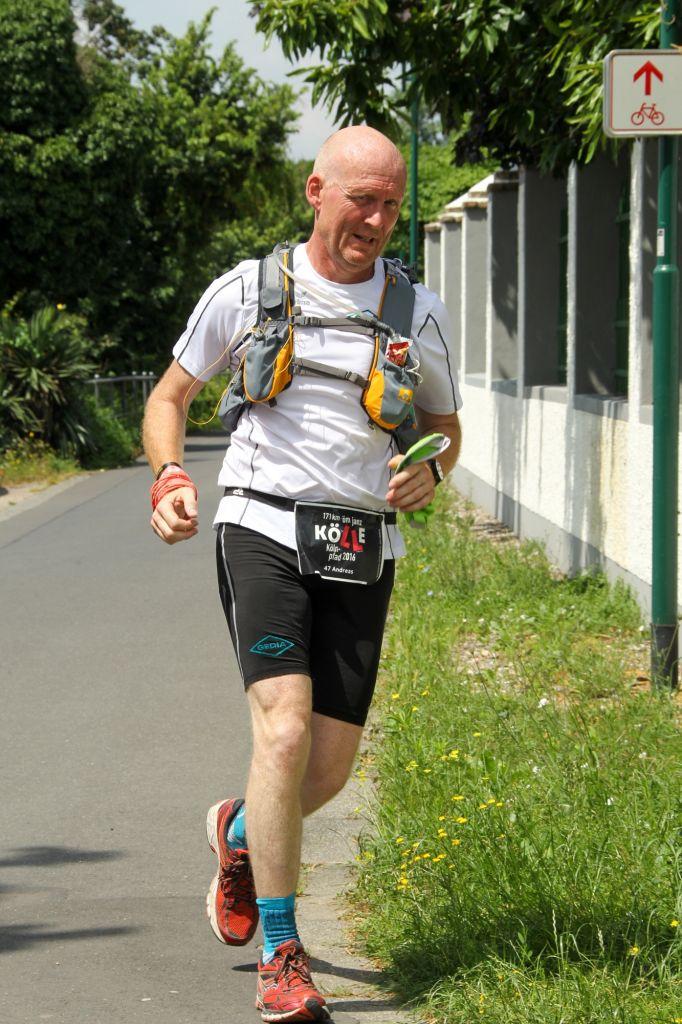 Andreas Geyer beim 171 KM Lauf in Köln
