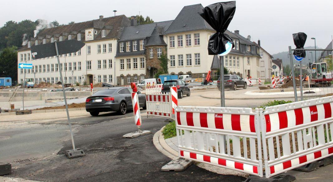 Baustelle Kreisverkehr Ennester Tor