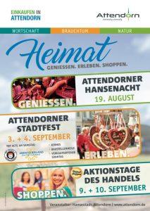 Stadt Attendorn Plakat - Heimat geniessen-erleben-shoppen