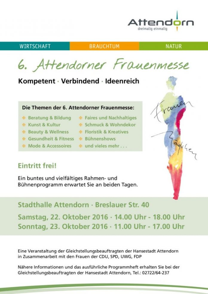 Plakat Frauenmesse Attendorn 2016