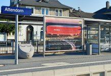 Viega Werbeschilder Bahnhof Attendorn