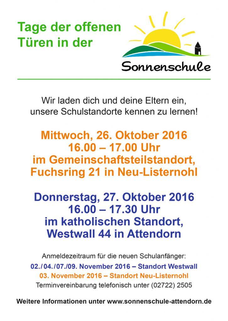 Tag der Offenen Tür 2016 Sonnenschule Attendorn