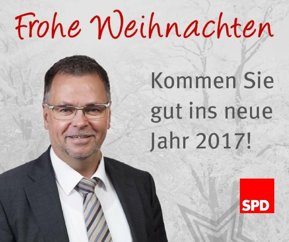 Der SPD-Kreisverband wünscht FROHE WEIHNACHTEN - WOlfgang LAngenohl