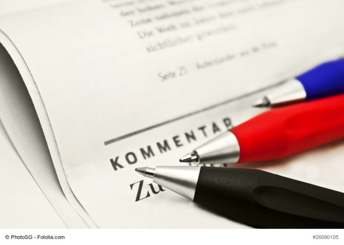Meinung - Kommentar - Leserbrief - Foto: fotolia.de
