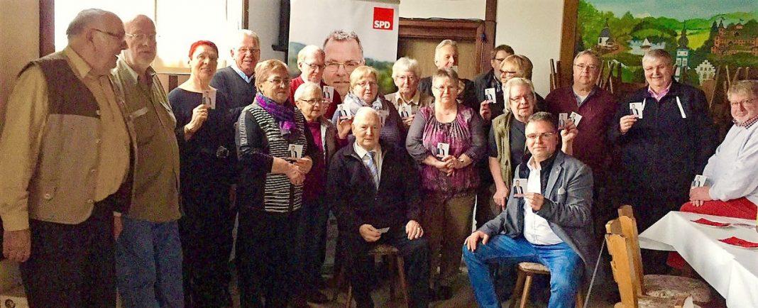 SPD feiert rund Geburtstage - Geburtstagsehrungen SPD Attendorn - Februar 2017