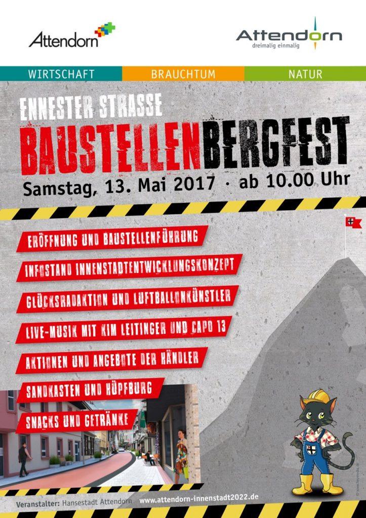 Baustellen Bergfest - Ennester Straße Attendorn 2017
