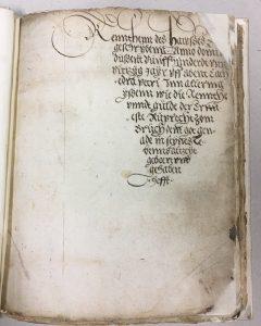 Südsauerlandmuseum - Schreiben wie im Mittelalter