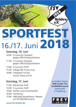 Sportfest Helden 2018