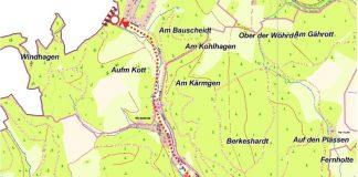 Wesetalstraße Weschede - zwischen Papiermühle und Beukenbeul