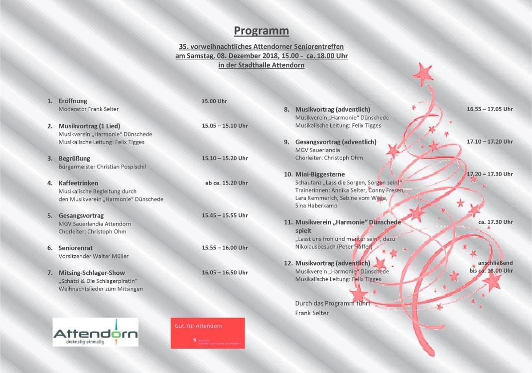 programm 35 vorweihnachtliches seniorentreffen