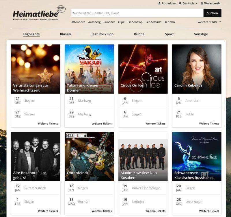 Heimatliebe - Ticketshop