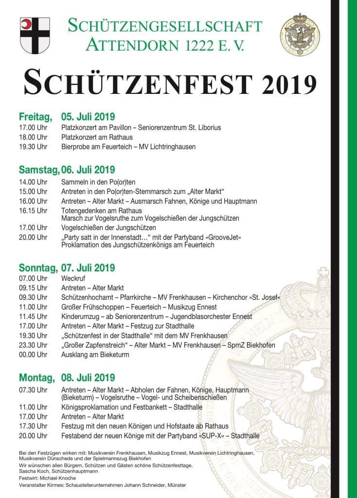 Attendorner Schützenfest 2019 - Schützengesellschaft Attendorn