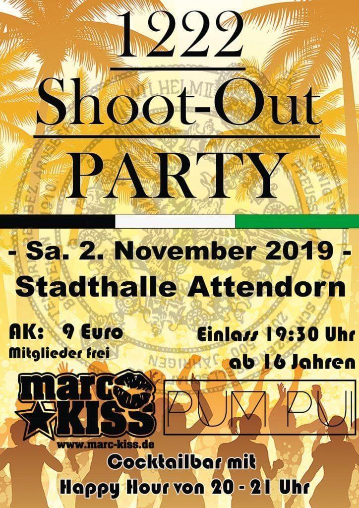 Schützengesellschaft Plakat Shoot Out Party 2019