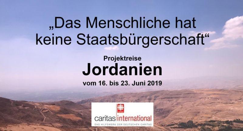 vortrag mit caritas international in jordanien