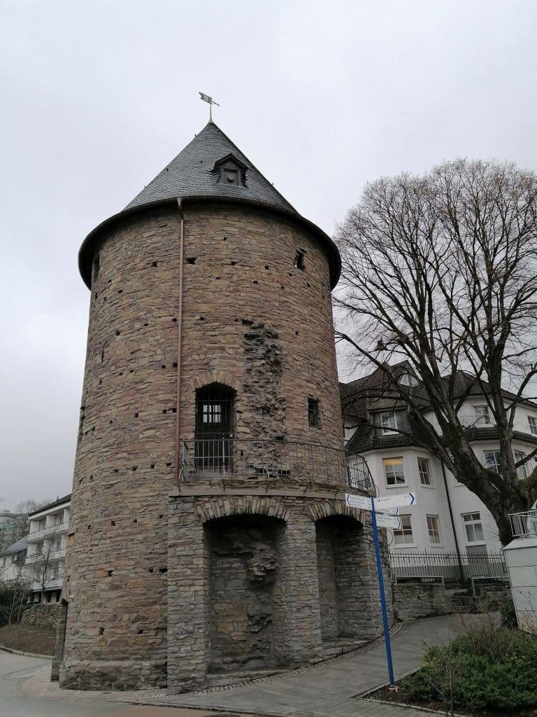 Der Bieketurm nach der Sanierung. 2021