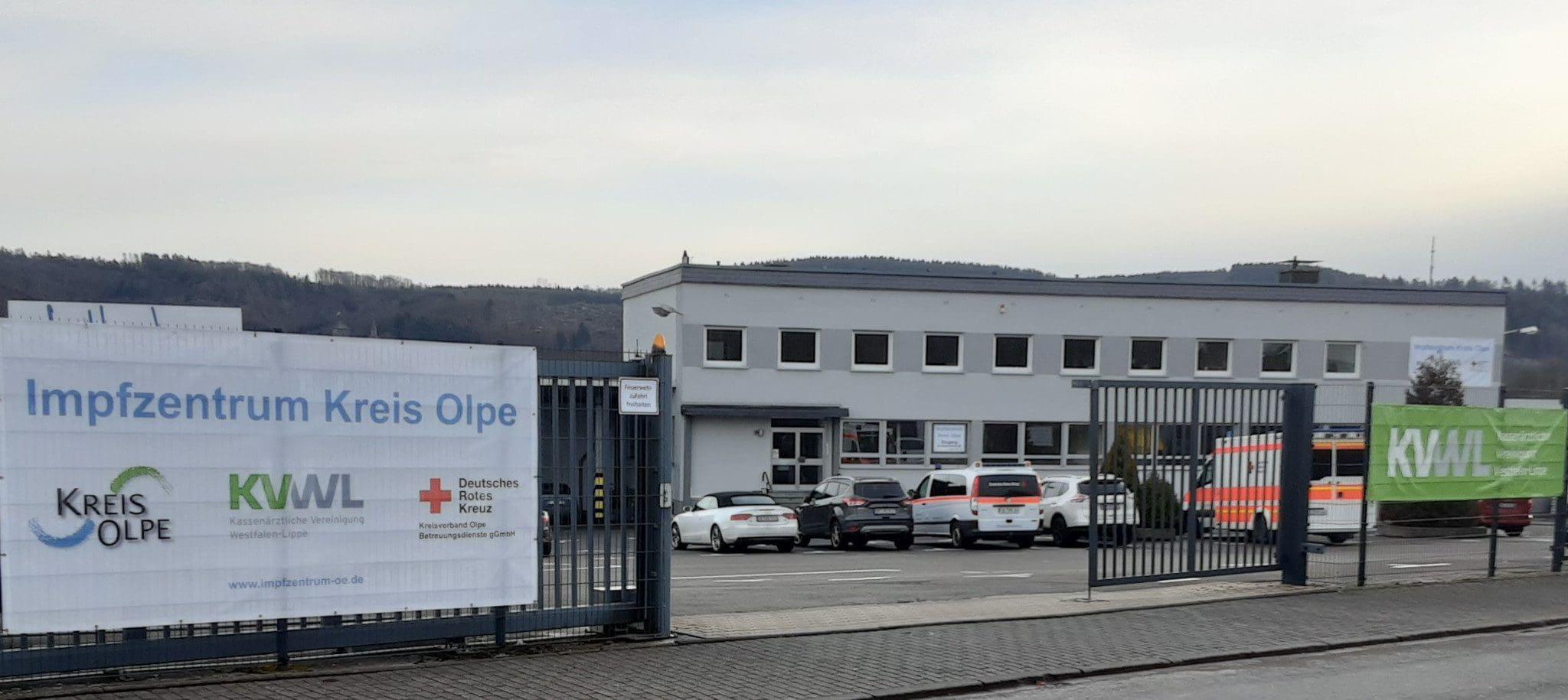 Impfzentrum des Kreises Olpe in Attendorn
